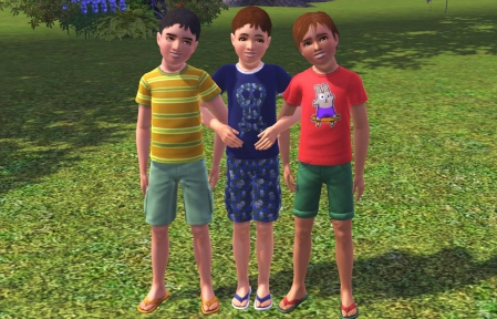Seth, James and Daniel as kids in the 90s
