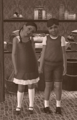 Thomas and Olivia Adams (now Olivia Richardson) as kids in the 50s)