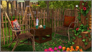 Tired from gardening? Have a seat! Have a drink!