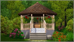The gazebo is a peaceful place