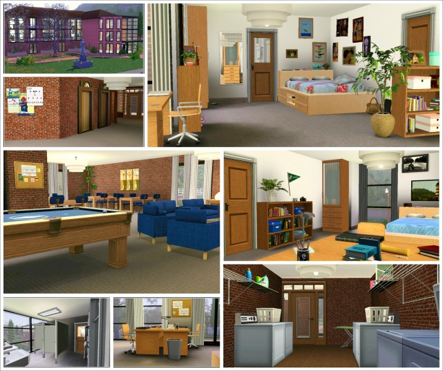 Student residence A collage
